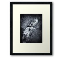 ©NS Lizard Portraid VAD Monochrome Framed Print