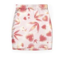 Red hearts and foliage Mini Skirt