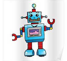 Fun toy robot cartoon Poster