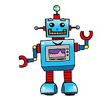 Fun toy robot cartoon Photographic Print