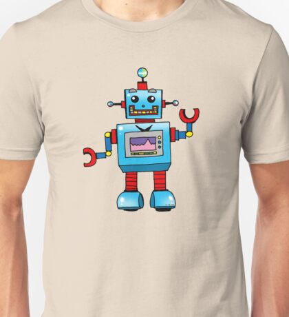 Fun toy robot cartoon Unisex T-Shirt