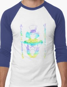 Alice in Wonderland Psychedelic  Men's Baseball ¾ T-Shirt