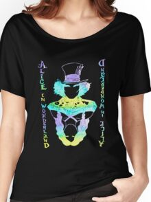 Alice in Wonderland Psychedelic  Women's Relaxed Fit T-Shirt