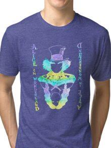 Alice in Wonderland Psychedelic  Tri-blend T-Shirt