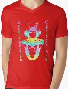 Alice in Wonderland Psychedelic  Mens V-Neck T-Shirt