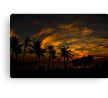 Sunset at Legian Canvas Print
