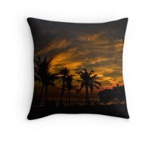 Sunset at Legian Throw Pillow