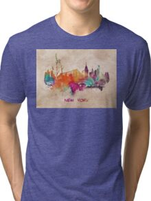 New York City skyline 2 Tri-blend T-Shirt
