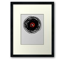 I'm spinning within with a vinyl record... Framed Print