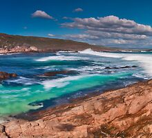Moses Rock Panorama Wilyabrup Beach WA by Jonathan Stacey
