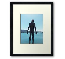 Wellington Waterfront Statue Framed Print