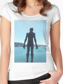 Wellington Waterfront Statue Women's Fitted Scoop T-Shirt