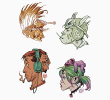 Heads Sticker Collection by Chris Wahl