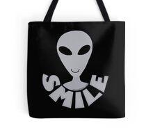 SMILE! Happy Alien LGM In Gray Tote Bag