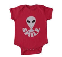 SMILE! Happy Alien LGM In Gray One Piece - Short Sleeve