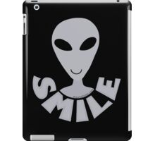 SMILE! Happy Alien LGM In Gray iPad Case/Skin