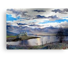 Four Seasons - One Day -Grimwith Canvas Print