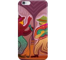 cheerful music band performing on stage iPhone Case/Skin