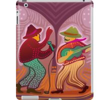 cheerful music band performing on stage iPad Case/Skin