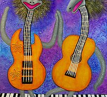 Emu Guitarists by ARTBYVT