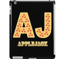 My little Pony - Initials Applejack- Black iPad Case/Skin