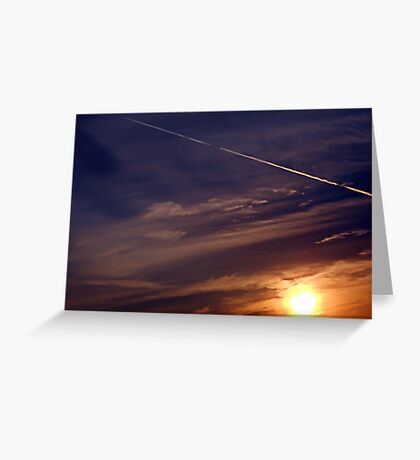 ©TSS The Sun Series L Sunrise Track IA Greeting Card