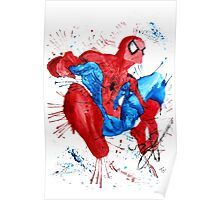 Spider-Man Watercolor Splash Poster