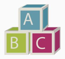 Colorful letter blocks Baby Tee