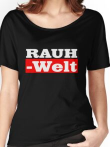 Rauh-Welt Begriff Red Women's Relaxed Fit T-Shirt
