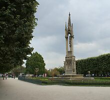 The gardens behind Notre-Dame, Paris by Brian Middleton