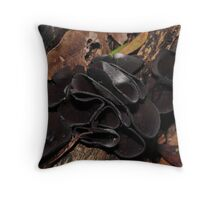 Black Jelly Cups Throw Pillow