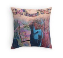 Going Down Swinging Throw Pillow