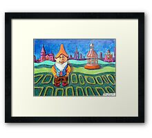 420 - LAND OF THE GNOMES - DAVE EDWARDS - COLOURED PENCILS - 2015 Framed Print