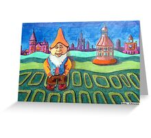 420 - LAND OF THE GNOMES - DAVE EDWARDS - COLOURED PENCILS - 2015 Greeting Card