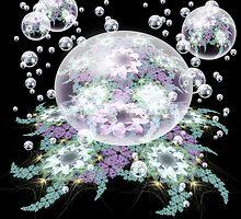 Pinwheel droplets afloat by Bonnie Aungle