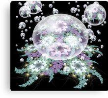 Pinwheel droplets afloat Canvas Print