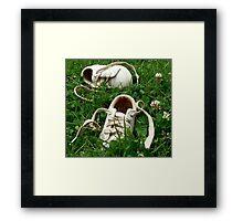 Barefoot in Clover Framed Print
