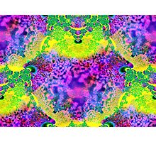 abstract fractal green, purple, blue, red, yellow Photographic Print