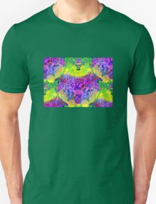 abstract fractal green, purple, blue, red, yellow T-Shirt