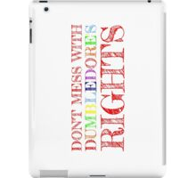 Don't Mess With Dumbledore's Rights iPad Case/Skin