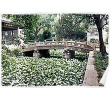 Bridge at Wuxi Gardens Poster