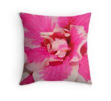 Azalea in Pink & White Throw Pillow