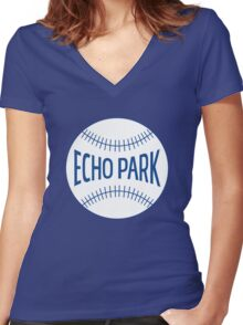 Echo Park Women's Fitted V-Neck T-Shirt