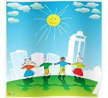 Happy kids Poster