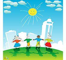 Happy kids Photographic Print