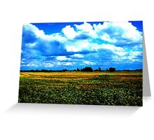 Fields and Clouds - Seaton Ross Greeting Card