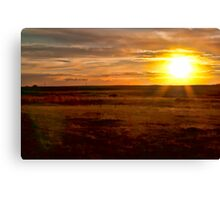 Prairie Sunset (Painted) Canvas Print