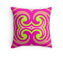 Psychedelic Swirl Throw Pillow