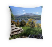 Ben Nevis in summertime. Throw Pillow