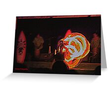 Samoan Fire Dance Greeting Card